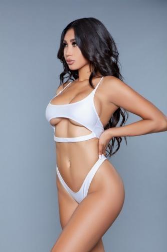 Sexy Neck Bikini - weiß