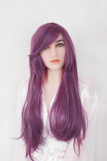 Perücke - violett mit Pony