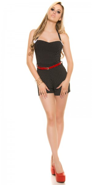 sexy Neck Playsuit im Pin Up Style