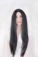 Perücke - schwarz, glatte Haare