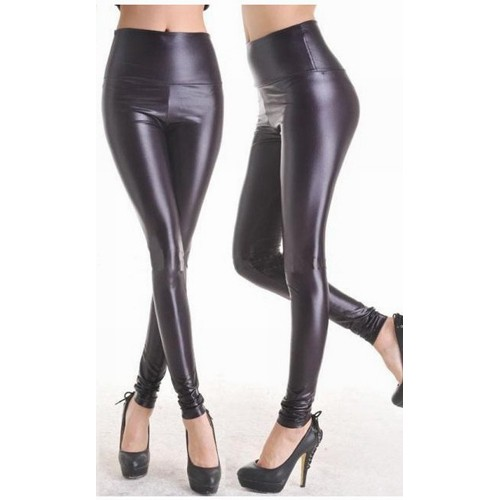 Leggings in Wetlook Optik