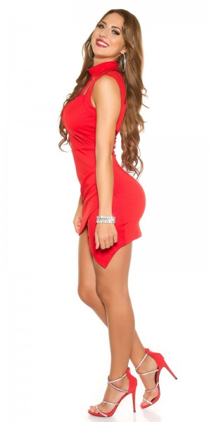 Neck-Kleid rot