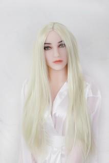 Perücke - blond mit Mittelscheitel